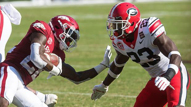 Trelon Smith, Arkansas Razorbacks vs. Georgia Bulldogs