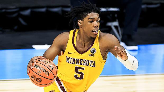 Marcus Carr, Minnesota Golden Gophers Basketball during 2021 Big Ten Tournament