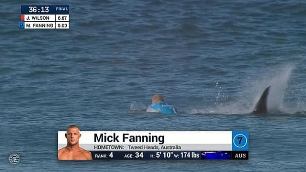 Surfer Mick Fanning Survives Shark Attack During Competition