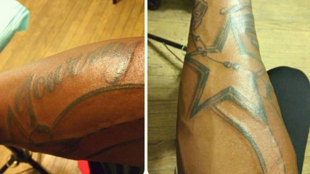 Randy Gregory Gets Cowboys Tattoo a Few Days After Being Drafted