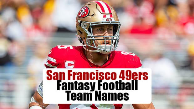 San Francisco 49ers Fantasy Football Team Names