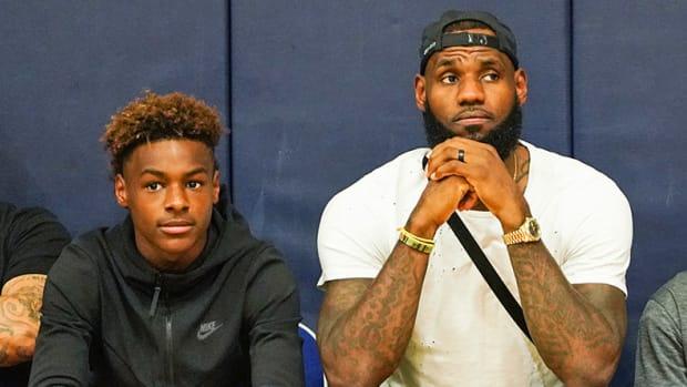 LeBron James Jr. and Sr.