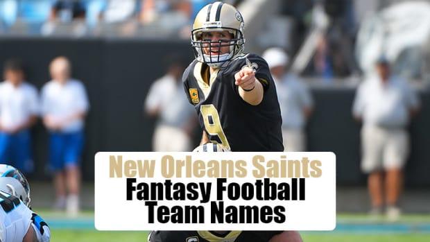New Orleans Saints Fantasy Football Team Names