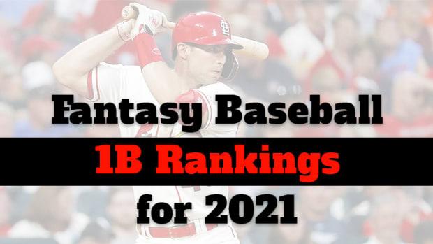 Fantasy Baseball Cheat Sheet: First Base Rankings for 2021