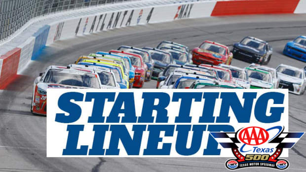 NASCAR Starting Lineup for Sunday's AAA Texas 500 at Texas Motor Speedway