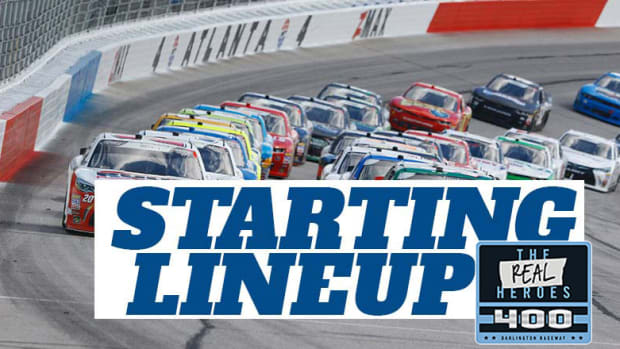 NASCAR Starting Lineup for Sunday's The Real Heroes 400 at Darlington Raceway
