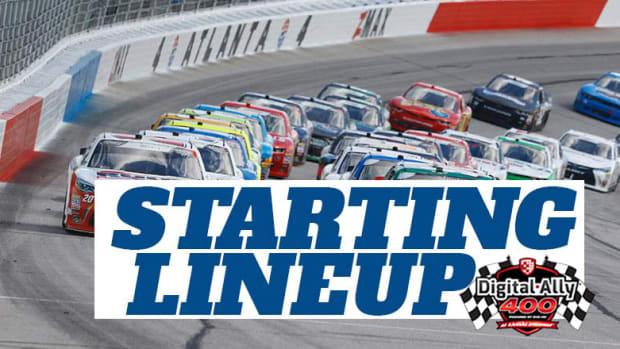 NASCAR Starting Lineup for Saturday's Digital Ally 400 at Kansas Speedway