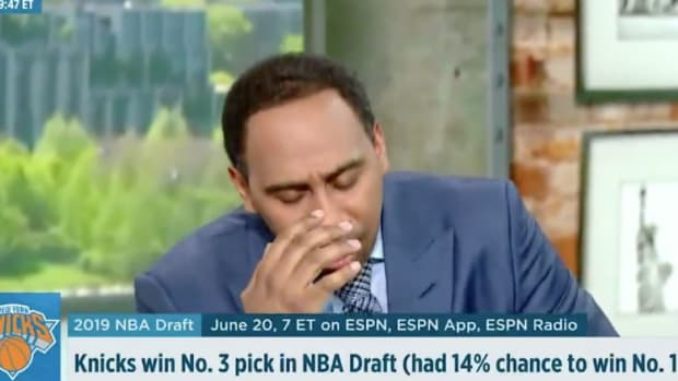 Stephen A. Smith Has Meltdown Over Knicks Getting Third Pick in NBA Draft