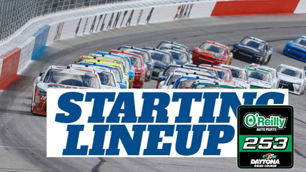 NASCAR Starting Lineup for Sunday's O'Reilly Auto Parts 253 at Daytona Road Course