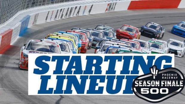 NASCAR Starting Lineup for Sunday's Season Finale 500 at Phoenix Raceway