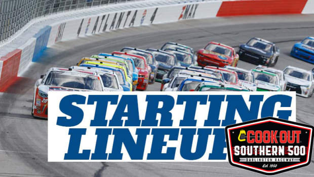 NASCAR Starting Lineup for Sunday's Cook Out Southern 500 at Darlington Raceway