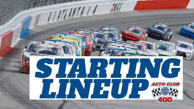 NASCAR Starting Lineup for Auto Club 400 at Auto Club Speedway (Fontana)