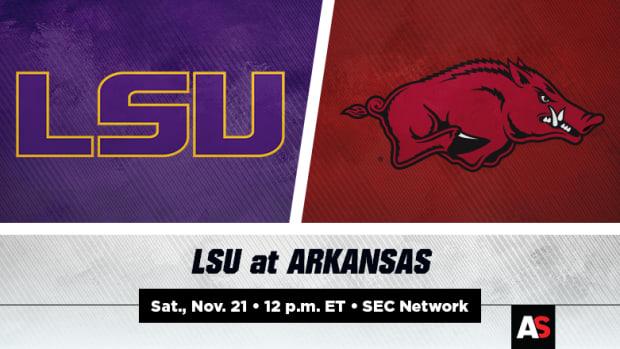 LSU vs. Arkansas Football Prediction and Preview