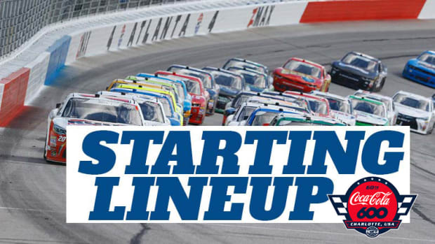 NASCAR Starting Lineup for Sunday's Coca-Cola 600 at Charlotte Motor Speedway