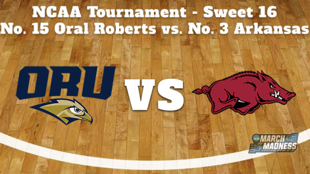 Oral Roberts Golden Eagles vs. Arkansas Razorbacks Prediction: NCAA Tournament Sweet 16 Preview