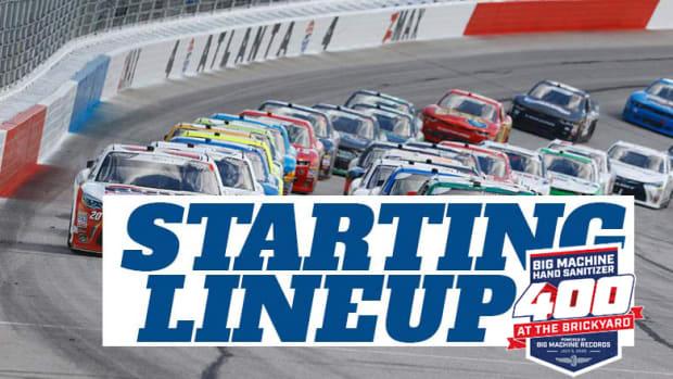 NASCAR Starting Lineup for Sunday's Big Machine Hand Sanitizer 400 at Indianapolis Motor Speedway