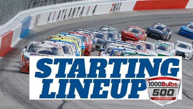 NASCAR Starting Lineup for Sunday's 1000Bulbs.com 500 at Talladega Superspeedway