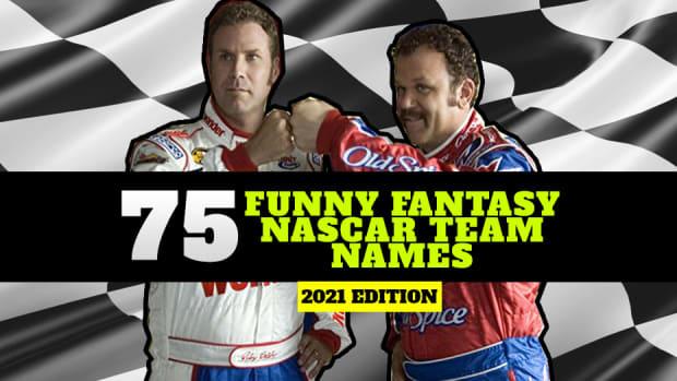 75 Funny Fantasy NASCAR Team Names for 2021