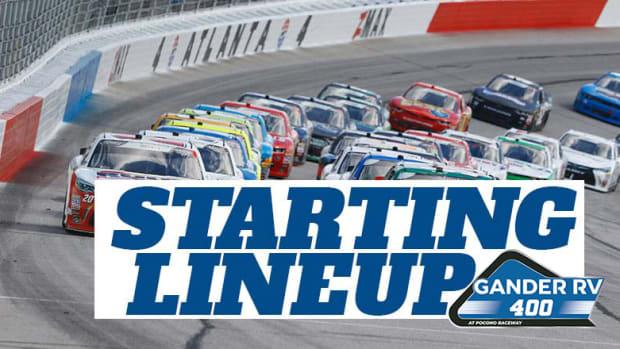 NASCAR Starting Lineup for Sunday's Gander RV 400 at Pocono Raceway