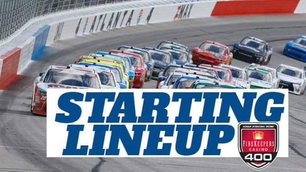 NASCAR Starting Lineup for Saturday's FireKeepers Casino 400 at Michigan International Speedway