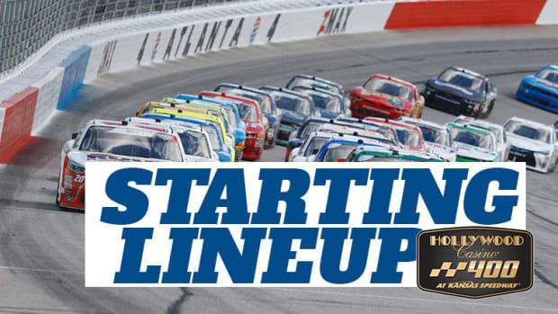 NASCAR Starting Lineup for Sunday's Hollywood Casino 400 at Kansas Speedway