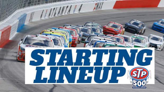 NASCAR Starting Lineup for STP 500 at Martinsville Speedway