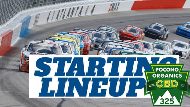 NASCAR Starting Lineup for Saturday's Pocono Organics CBD 325 at Pocono Raceway