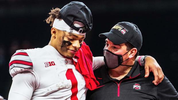 Justin Fields and Ryan Day, Ohio State Buckeyes Football