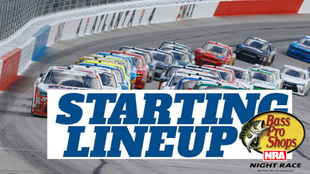 NASCAR Starting Lineup for Saturday's Bass Pro Shops NRA Night Race at Bristol Motor Speedway