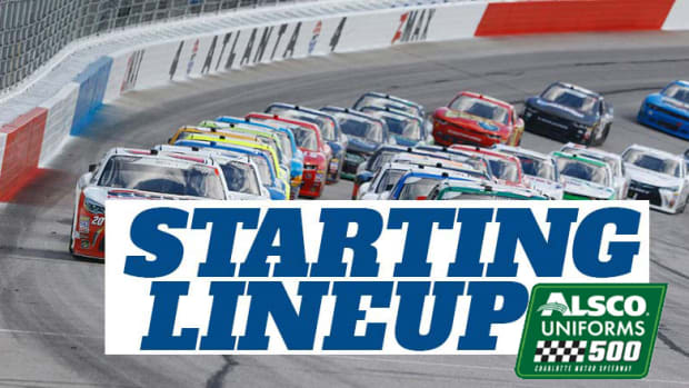 NASCAR Starting Lineup for Wednesday's Alsco Uniforms 500 at Charlotte Motor Speedway