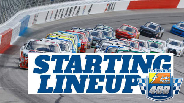 NASCAR Starting Lineup for Saturday's Federated Auto Parts at Richmond Raceway