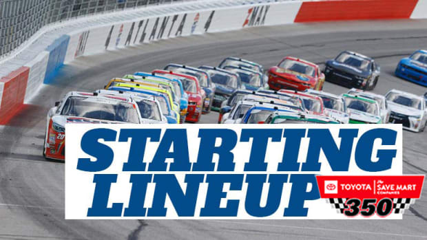 NASCAR Starting Lineup for Sunday's Toyota/Save Mart 350 at Sonoma Raceway