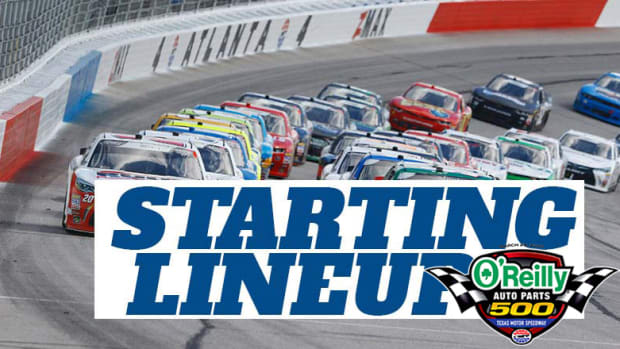 NASCAR Starting Lineup for Sunday's O'Reilly Auto Parts 500 at Texas Motor Speedway