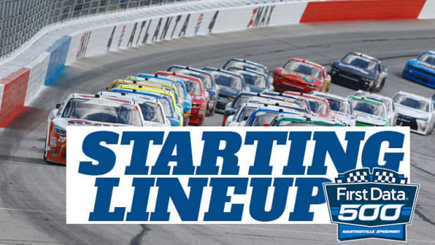 NASCAR Starting Lineup for Sunday's First Data 500 at Martinsville Speedway