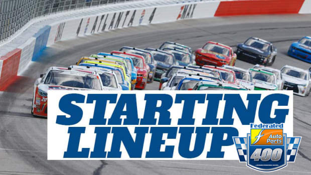 Starting Lineup for Saturday's Federated Auto Parts 400 at Richmond International Raceway