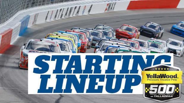 NASCAR Starting Lineup for Sunday's YellaWood 500 at Talladega Superspeedway