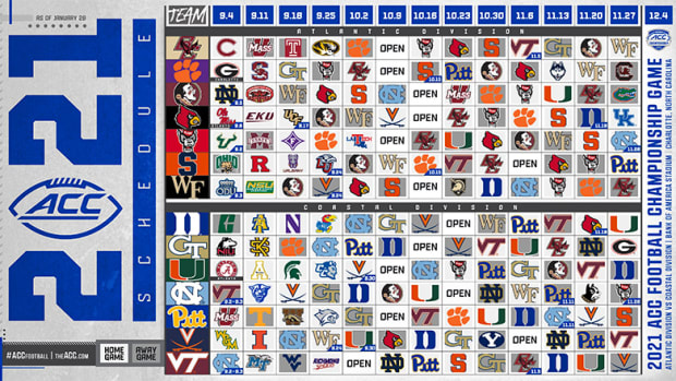 ACC Football: What to Know About the 2021 Schedule