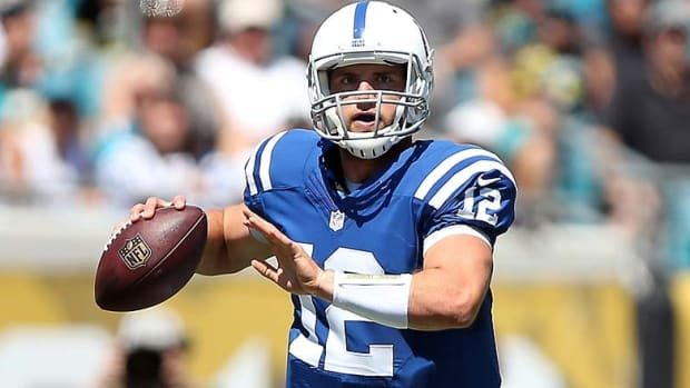 Andrew Luck is 10-0 all-time against the Titans