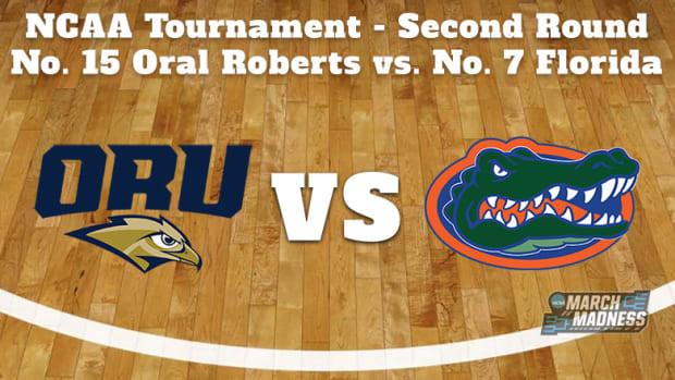 Oral Roberts Golden Eagles vs. Florida Gators Prediction: NCAA Tournament Second Round Preview