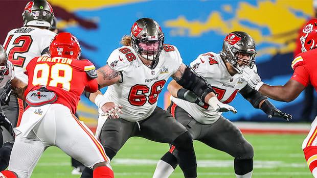 Ryan Jensen and Ali Marpet, Tampa Bay Buccaneers in Super Bowl LV