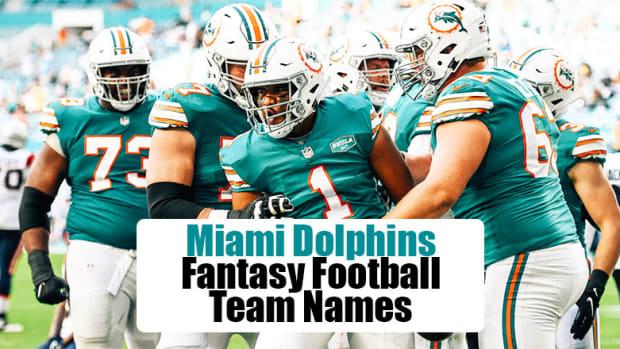 Miami Dolphins Fantasy Football Team Names