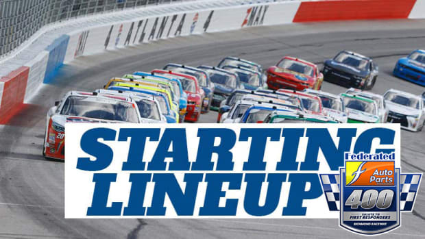 NASCAR Starting Lineup for Saturday's Federated Auto Parts Salute to First Responders 400 at Richmond Raceway