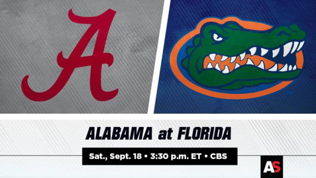 Alabama Crimson Tide vs. Florida Gators