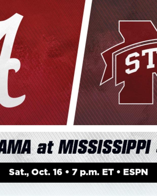 Alabama Crimson Tide vs. Mississippi State Bulldogs Football Prediction and Preview