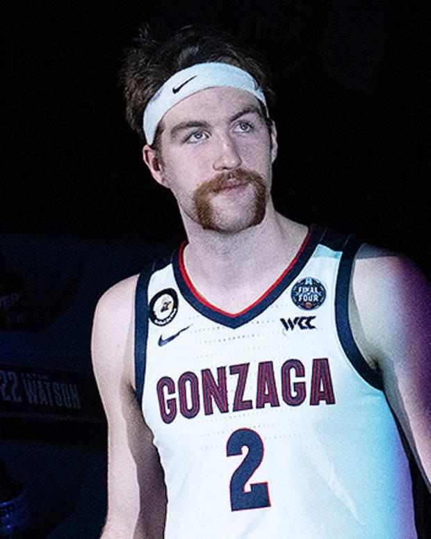Drew Timme, Gonzaga Bulldogs Basketball at 2021 NCAA Tournament Final Four