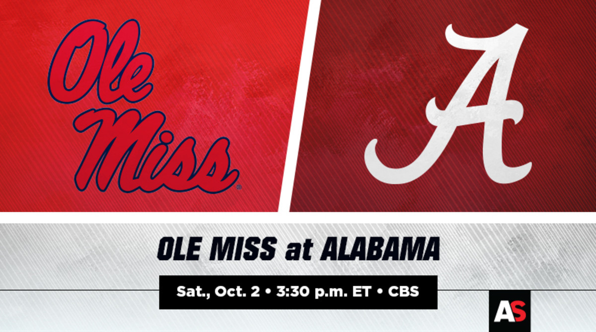 Ole Miss Rebels vs. Alabama Crimson Tide Football Prediction and Preview