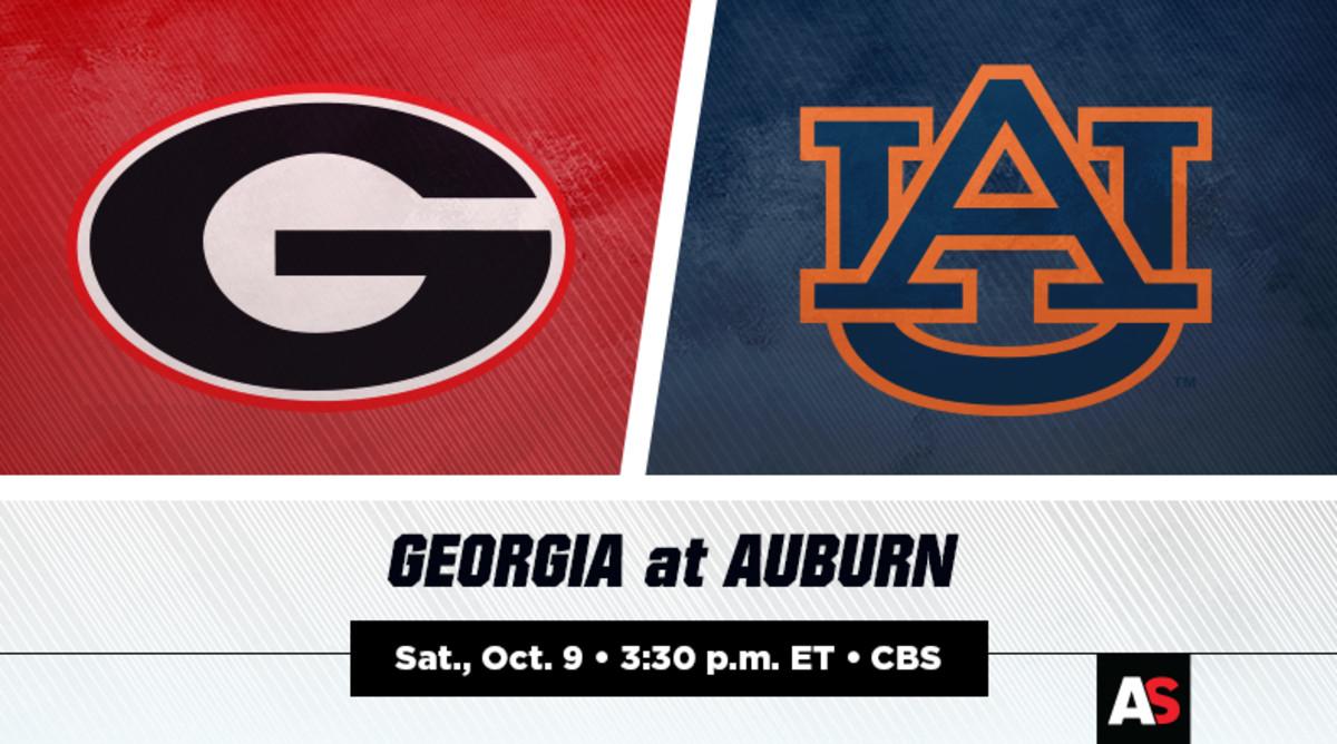 Georgia Bulldogs vs. Auburn Tigers Football Prediction and Preview
