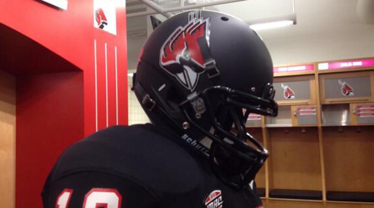 Ball State new black helmet