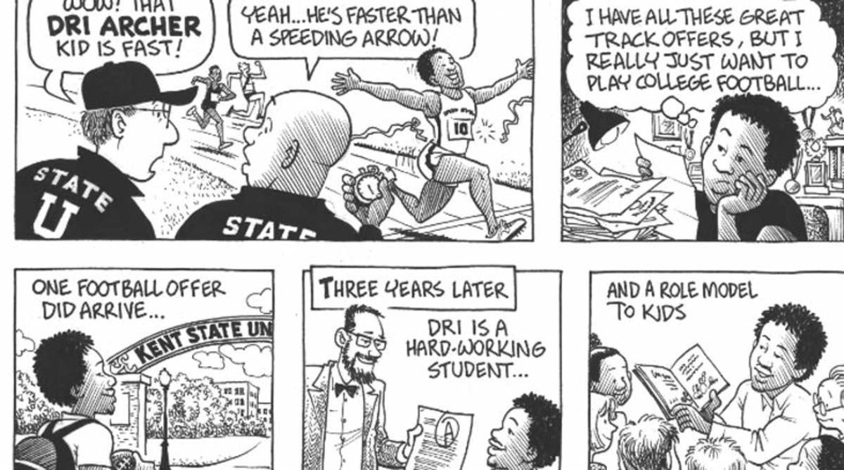 Dri Archer Heisman campaign comic