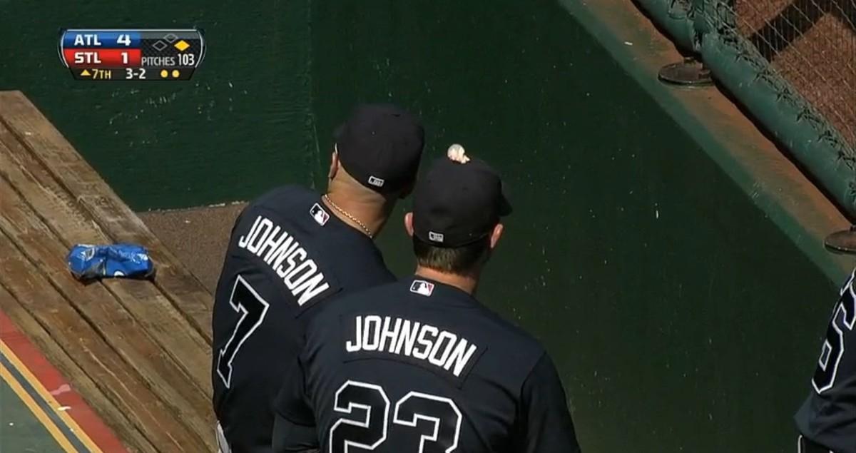 Braves Pull Gum Prank on Chris Johnson